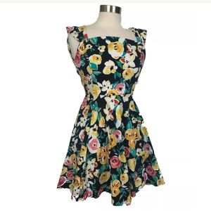 ModCloth IxiA dress floral size medium Made in USA